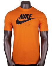 NIKE Futura Icon Speckles Logo T-Shirt sz L Large Orange Black Roshe Max 90 95