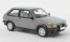 FORD FIESTA Mk.2 XR2 model road car metallic grey 1984 1:43 scale NEO 46007