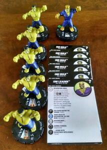 Oni Hulk x5 #007 + Oni Leader #020 x1 common generics What If? Heroclix w/ cards