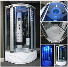900x900mm Modern Quadrant Steam Shower Room Cubicle Enclosure Cabin 90x90cm