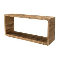 """63"""" W Alicia Console Table Solid Oak Wood Modern Open Design One of a Kind"""