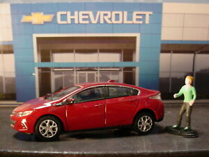 Greenlight CHEVROLET Dealership '16 CHEVY VOLT & female figure✰Red✰loose