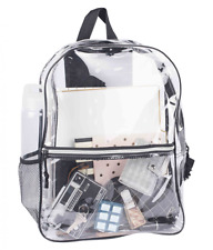 NEW Clear Backpack Transparent Book Bag Plastic - FREE SHIPPING!