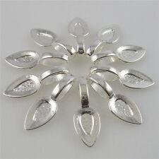 12268 50PCS 21mm Silver Tone Glue on Bails Pendant Bail FOR Necklaces Bracelet