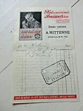 factures avallon 1913 plats suisines amieux epicerie mittenne