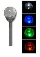 LED Solar Lichtkugel Solarlampe Solarleuchte Kugel Bruchglas Mosaik Farbwechsel