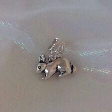 Rabbit Jewellery Bracelet Charm Slide On Unique. Free Gift Bag 💕🐾🐇💕