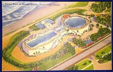 VINTAGE Marineland Florida Marine Studios 1940s Linen AERIAL Postcard MINT