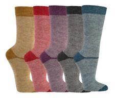 2 Paar Socken mit Merino und Alpaka Wolle für Damen und Herren Ringel bunt