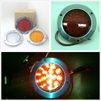 Round Red LED Tail Light 12V-24V Round Back-up Reverse Lamp For Truck Trailer RV