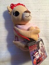 Clarice Plush with Pink Blanket & CD Rudolph the Red Nosed Reindeer NWT 10""