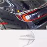 2020-2021 For Hyundai Sonata ABS Chrome Rear Tail Lamp Shade Cover Trim 4pcs