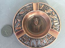Unique Hanmade Egyptian Pewter Antiquet King Tut  Pharaoh Plate!!! Made In Egypt