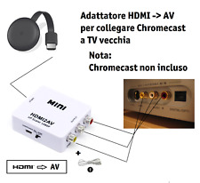 Adattatore AV per collegare Google Chromecast a TV RCA Convertitore HDMI2AV