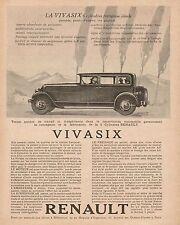 Y9076 Automobili RENAULT Vivasix - Pubblicità d'epoca - 1928 Old advertising