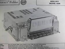 1956 MERCURY 6BM RADIO PHOTOFACT