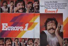 PUBLICITÉ 1974 EUROPE 1 GÉRARD KLEIN VOUS LES FAIT ÉCOUTER MÉLODIE PARADE 10H
