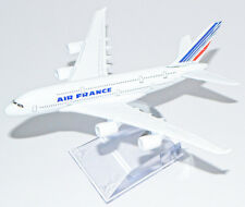A380 AIRBUS AIR FRANCE AIRLINES 16CM METAL PLANE MODEL DIECAST STAND DESKTOP NEW
