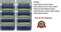 8 Schick Hydro 5 Razor Sensitive Blades fit Power Shaver Cartridges Refills 4