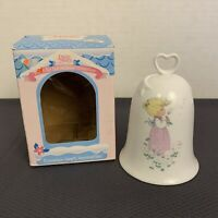 Precious Moments Porcelain Bell Heart Handle Mom Your A Wish Come True
