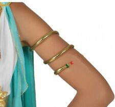 BRACELET bras Serpent Doré CLEOPATRE Accessoire Déguisement Egyptienne NEUF