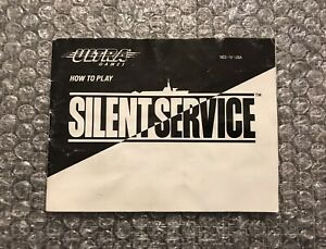 Silent Service - 100% Original/Authentic NES Nintendo Manual Only