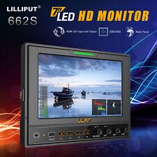 "Lilliput 662/S 7"" IPS HD-SDI 1280*800 Video field monitor +2*Battery plate"