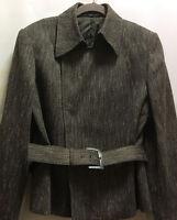 Company Ellen Tracy Womens Jacket Blazer Brown Wool Blend Size 10