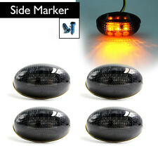 4 Pcs/Set Smoke Side Fender Dually Bed Marker LED Lights For 99-10 Ford F350