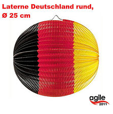 Laterne Lampion DEUTSCHLAND Party Deko D 25 cm Schwarz Rot Gelb Dekoration
