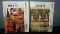 McCALLS CRAFTS - CHRISTMAS & HALLOWEEN PATTERNS M5781 & M5724 UNCUT