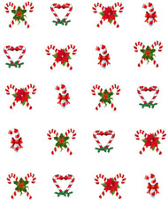 Christmas Candy Canes Waterslide Nail Decals/Nail art
