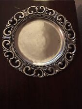 Arte Italica Donatello Pewter Charger Plates *New* 2 Available
