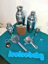 Home Bar Kit - Shakers, Strainers, Flask, Ice Tray, Shot Glass, Bottle Opener