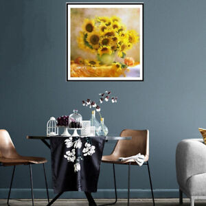 Diamond Painting Sunflower Crafts Diamond Embroidery Flowers Cross Sti.fr