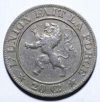 1861 Belgium Twenty 20 Centimes - Leopold I - Lot 2017