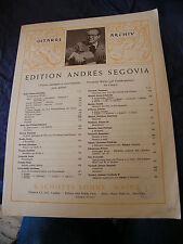 Partitura Guitarra Andres Segovia Zarabanda J S Bach De Schott Söhne Music Sheet