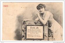 Nouvel An 1903 - Phototypie Bergeret - dos simple - voyagé 1902