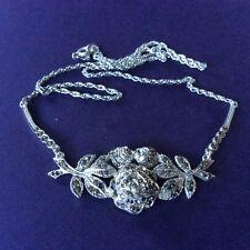 Vintage Retro 💎 925 Sterling Silver 💎 Marcasite Necklace 💎