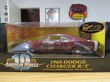 Ertl 1968 Dodge Burgundy Hemi Charger R/T , 1:18 Scale, W/ Meguiar's Wax , New