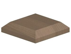 """Brown Wooden Post Caps to suit 3""""  x 4"""" (75mm x 100mm) Wooden Fence Posts"""