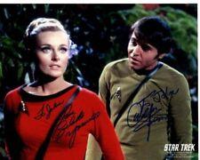 WALTER KOENIG & CELESTE YARNALL Autographed Signed STAR TREK Photograph  To John