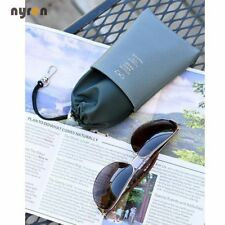 10pcs Eyeglasses Storage Bag Sunglasses Leather Pouch Multi Color Lanyard Bag