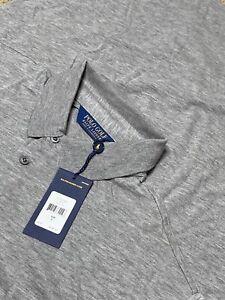 NEW - Polo Golf Ralph Lauren Gray LS Cashmere Blend Polo Shirt Men's Large