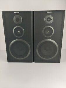 Vintage Sony 3 Way Speakers Hi-Fi Stereo - Black