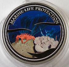 2003 Palau 5 dollars King Red Crab silver Marine Life Protection BOX COA