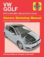 VW Golf Petrol & Diesel 2013 - 2016 62 to 66 Haynes Repair Manual 6416