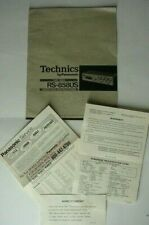 Org. Complete Technics Rs-858Us quad 8-track Player Oper. Instruction W/Extras