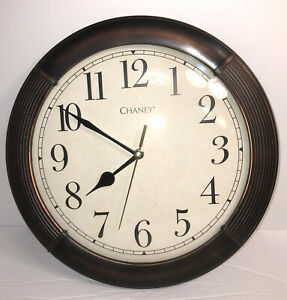 """Chaney Bronze Color Wall Clock- Battery Powered- Approx 12"""" Diameter- Home Decor"""