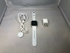 Apple Watch Series 4 GPS Silver Sport 40mm w/ White Sport Band Good Condition